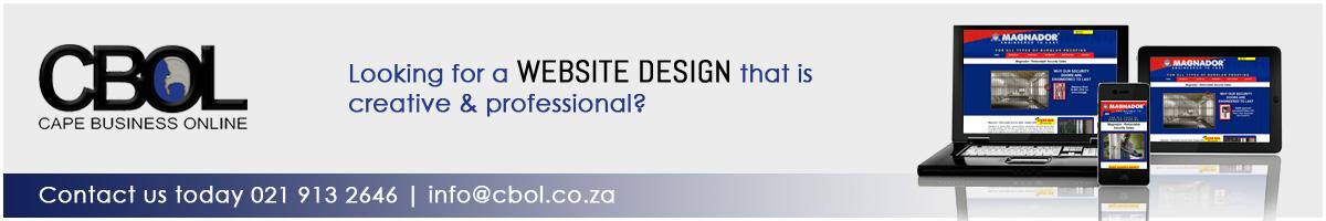 CBOL Web Design Front Page Ad